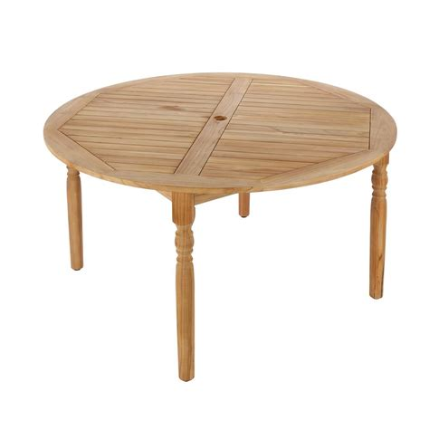 hton bay 59 in town teak patio dining table