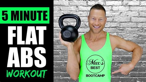 kettlebell abs stomach workout flat minute quick routine
