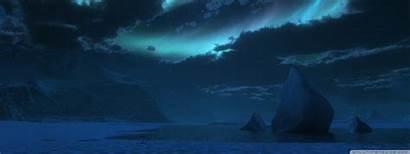 3d Polar Night Landscape Antarctica Wallpaperswide