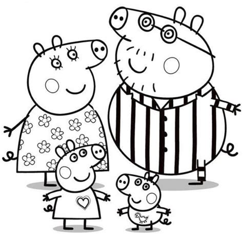 disegno della famiglia  peppa pig cose  crescere