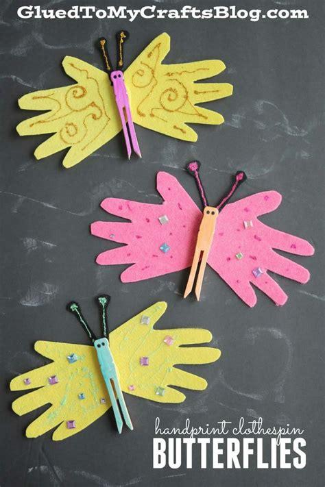 handprint clothespin butterflies kid craft 461 | aa2888ce09d834f6ce651ff2ccc37657 clothespins preschool crafts