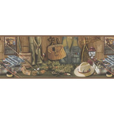 Kitchen Refresh Ideas - brewster northwoods lodge fishing wallpaper border 145b64970 the home depot