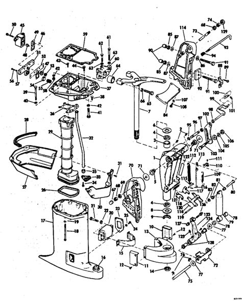 76 Evinrude 85 Hp Wiring Diagram by Johnson Exhaust Housing Parts For 1976 85hp 85el76d