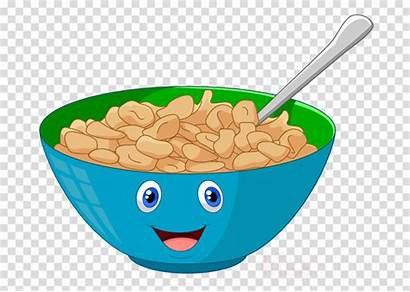 Cereal Breakfast Bowl Cartoon Clipart Clip Background