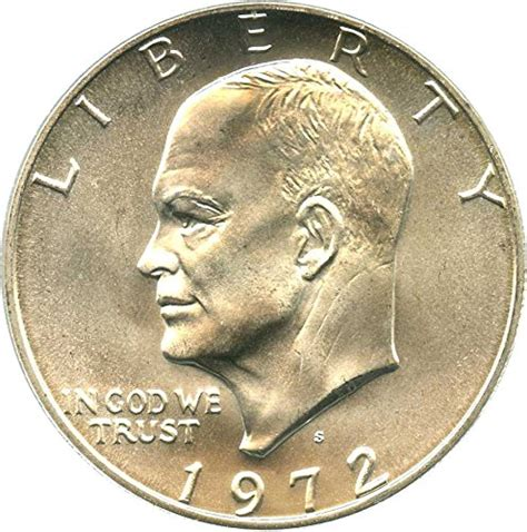 1972 silver dollar 1972 s eisenhower dollars silver dollar ms68 pcgs at amazon s collectible coins store