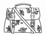 Handbag Purse Coloring Pages Template sketch template