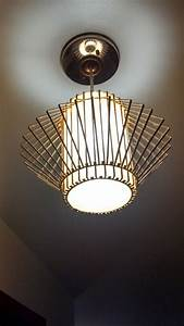1960s Light Fixture    Original In Our 1962 Ranch Style