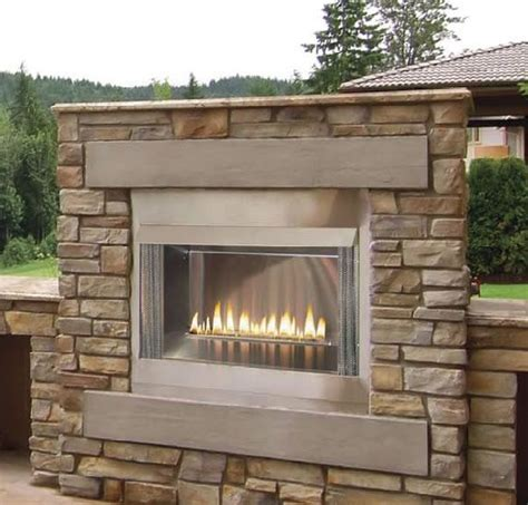 """Superior 60"""" Outdoor Linear Fireplace  Outdoor Fireplaces"""