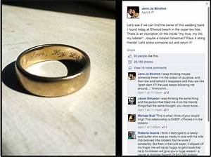 men vs loose wedding rings and a facebook feel good story With found wedding ring