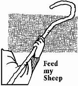 Feed Sheep Coloring Catholic Printablecolouringpages Larger Credit sketch template