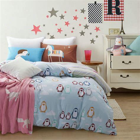 Kiren Pinguin Set 100 cotton mr penguin bedding set 4pcs home 200tc duvet