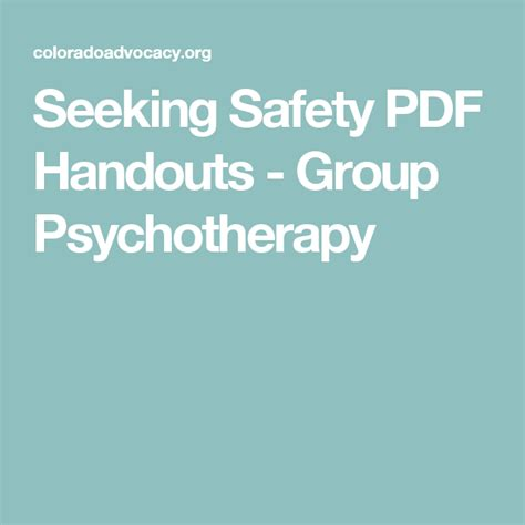 seeking safety client handouts  casaruraldavinacom