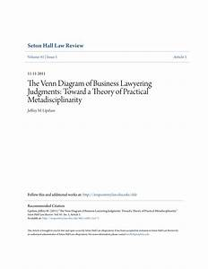 Pdf  The Venn Diagram Of Business Lawyering Judgments