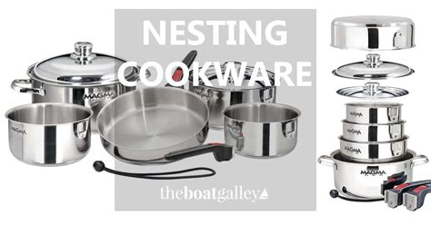 pots pans boat nesting galley cookware