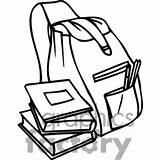Backpack Outline Clipart Books Clip Bookbag Drawing Open Clipartmag Bw Getdrawings Clipground 20clipart 20and 20black 20white Graphicsfactory Pdf Royalty Education sketch template