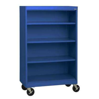 Blue Bookcase by Blue Bookcases Home Office Furniture The Home Depot