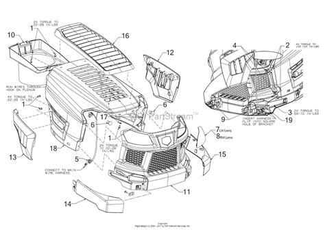 mtd bqazt   parts diagram  hood