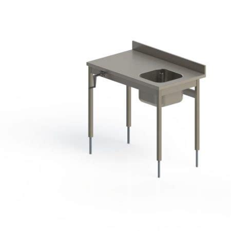 table inox du chef adoss 201 e fixe hauteur r 201 glable manuelle pieds carr 201 s sans 201 tag 200 re basse