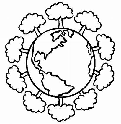Earth Coloring Pages Trees