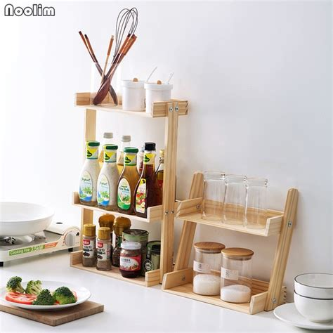 Spice Rack Holder by Noolim Wood Multi Layer Spice Rack Kitchen Multi Function