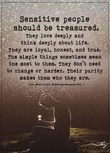 Sensitive peopl... Treasured Love Quotes