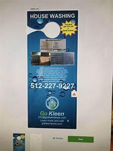 Window Cleaning Flyer Door Hanger Critique Marketing Pressure Washing Resource