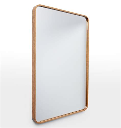 Rectangle Bathroom Mirrors by Solid Walnut Rounded Rectangle Mirror Rounded Rectangle