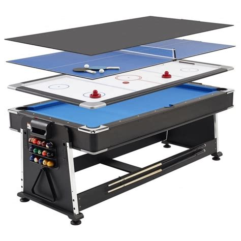 all in one pool table 7ft revolver 3 in 1 pool air hockey table tennis game
