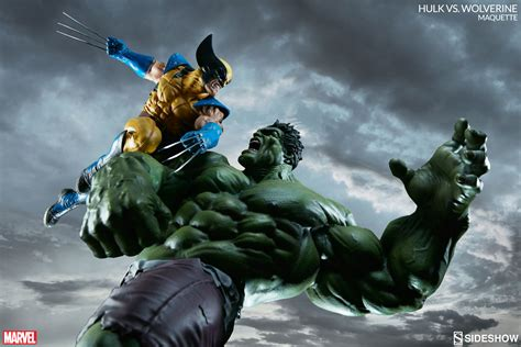 Alien Vs Predator Wallpaper Hulk Vs Wolverine A Meeting Of The Mighty Sideshow Collectibles