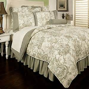 buy sherry kline country toile reversible king comforter set in sage green from bed bath beyond