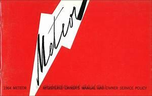 1964 Mercury Cd Repair Shop Manual  U0026 Body Parts Book