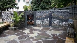 Mur En Gabion : mur et cl ture gabion id es pour le jardin en 33 photos ~ Premium-room.com Idées de Décoration