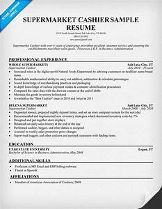 supermarket cashier resume samples across all industries With resume sample for cashier at a supermarket