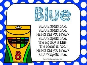 color blue song blue color song crayon book by engaging tpt