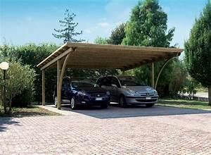 abris et rangements mamaisonmonjardincom With allee pour voiture dans jardin 12 carport 2 voitures toit plat