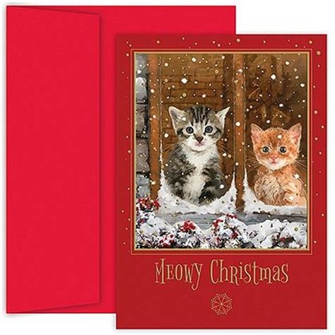 cat  dog christmas card ideas