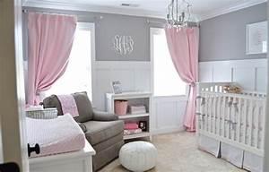 Chambre Rose Pale : chambre b b fille en gris et rose 27 belles id es partager chambre b b fille murs gris ~ Melissatoandfro.com Idées de Décoration