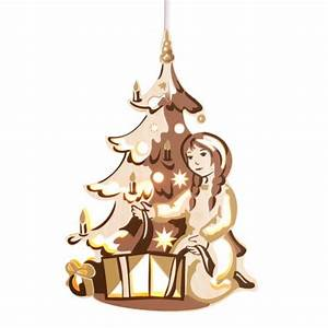 Weihnachtsbaum Auf Rechnung : zeidler fensterbild m dchen am weihnachtsbaum elektrisch beleuchtet erzgebirgische volkskunst ~ Themetempest.com Abrechnung