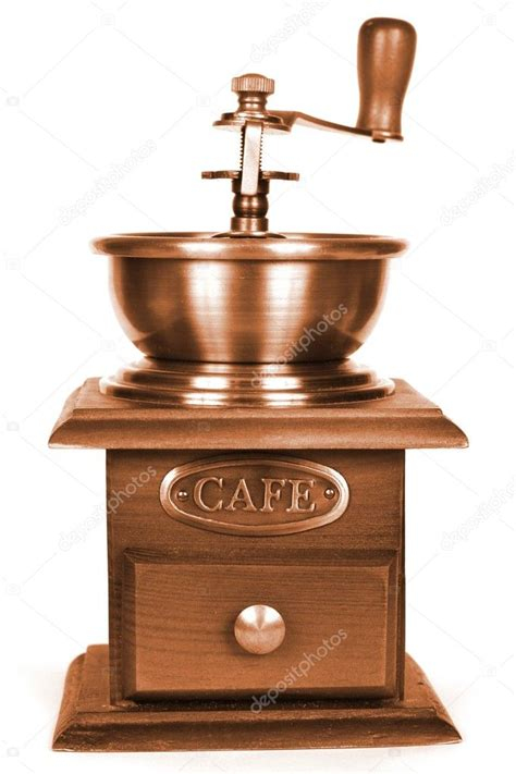 How to grind coffee without a coffee grinder? Old fashioned coffee grinder — Stock Photo © tkemot #2308482