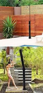 32 beautiful diy outdoor shower ideas for the best With fantastic ideas for outdoor shower enclosure in garden