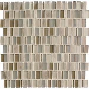 american olean 12 x 12 loren place meditation random and glass mosaic wall tile lowe s