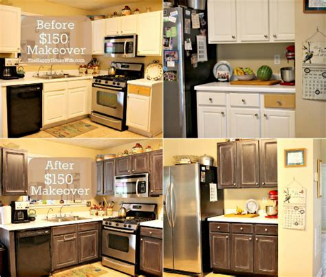 150 kitchen cabinet makeover find it make it love it frugal kitchen cabinet makeover the happy housewife