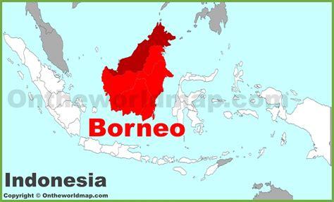 borneo located   world map stadslucht