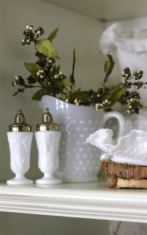 decorating with milk glass my milk glass fall decor