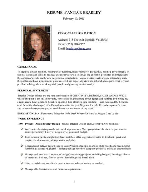 Interior Design Director Resume by Resume Interior Design