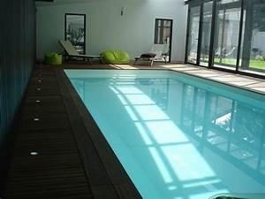 awesome photo piscine interieure maison images With maison en forme de u 7 magnifique extension bois avec piscine interieure