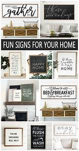 Fun, Wood, Signs, For, Your, Home