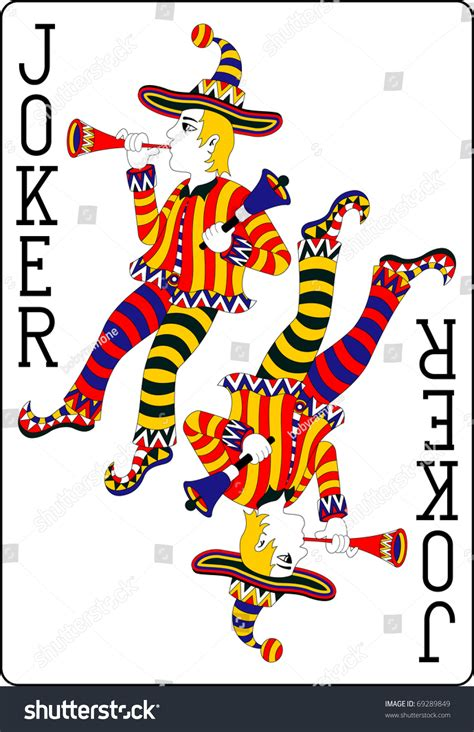 playing card joker  mm stock vector