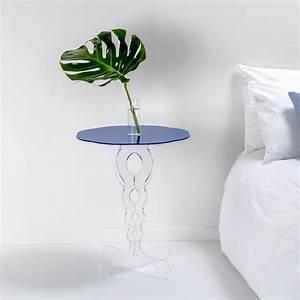 Kleiner Runder Tisch : kleiner runder tisch blau durchmesser 50 cm modernes design janis made in italy ~ Watch28wear.com Haus und Dekorationen