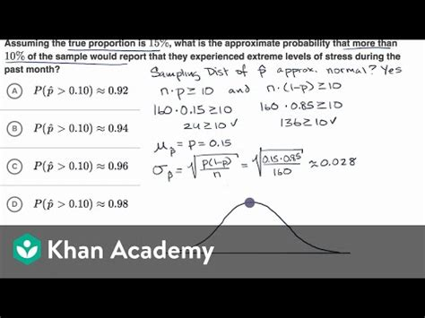 probability  sample proportions  video khan